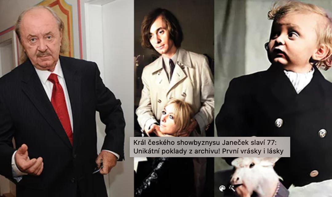 Král českého showbyznysu Janeček slaví 77: Unikátní poklady z archivu! První vrásky i lásky